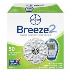 Bayer BREEZE 2 Test Strips 50 Count