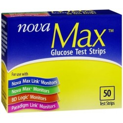 Nova Max Test Strips 50 Count
