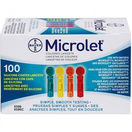 Bayer Color Microlet Lancets 100 Count