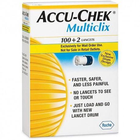 Accu-Chek Multiclix Lancets 100+2- Diabetesteststripswholesale