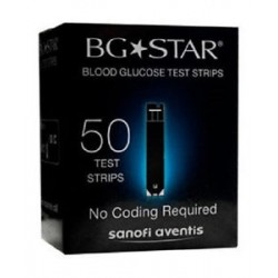 BGStar Blood Glucose Test Strips 50 Count