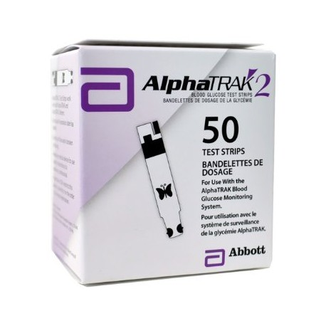 Alpha TRAK2 Blood Glucose Test Strips 50 Count