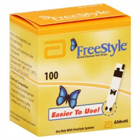 Abbott FreeStyle Blood Glucose Test Strips 100 Count