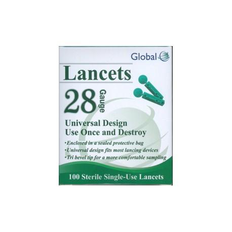 Global Lancets 28g- Diabetesteststripswholesale