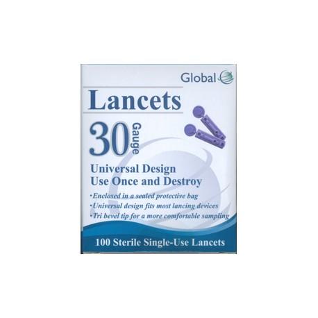 Global Lancets 30g- Diabetesteststripswholesale