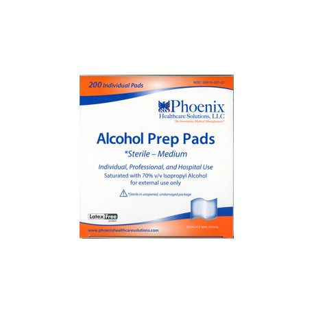 Phoenix Alcohol Pads 200- Diabetesteststripswholesale