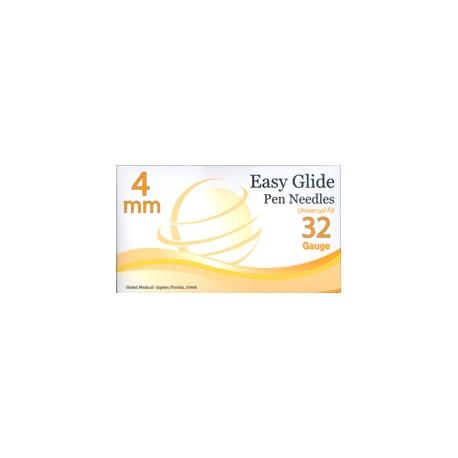 Easy Glide Pen Needles 32 Gauge - 4mm- Diabetesteststripswholesale