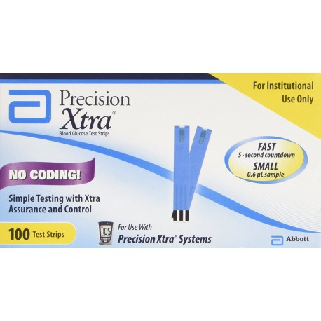 Abbott Precision Xtra Test Strips 100 Count