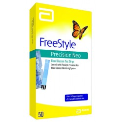 Freestyle Precision Neo Blood Glucose test strips 50