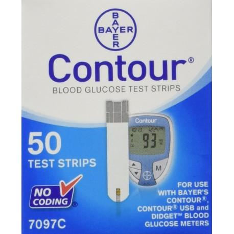 Bayer Contour Test Strips 50 Count- Diabetesteststripswholesale