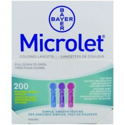 Microlet 28G Coloured Lancets 200