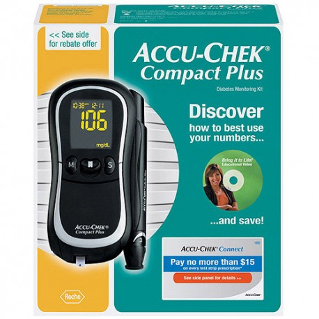 Accu-Chek CompactPlus Diabetes Blood Glucose Monitoring Care Kit