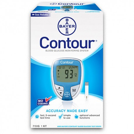 Bayer Contour Blood Glucose Meter Kit- Diabetesteststripswholesale